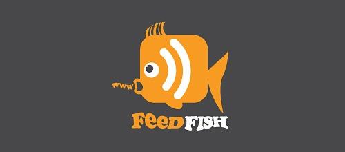 Рыбка в виде RSS иконки