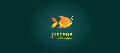 Симпатичный лого с рыбкой