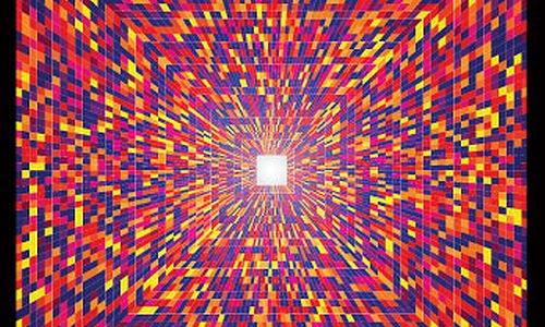 дизайн геометрического постера в стиле оптического искусства