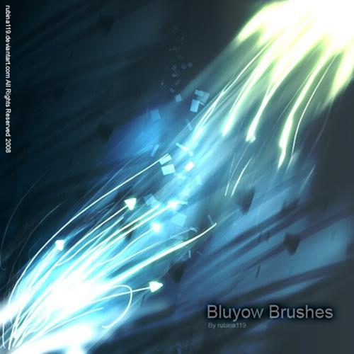 Абстрактные кисти световых форм