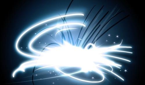 8 кистей эффектов световых линий