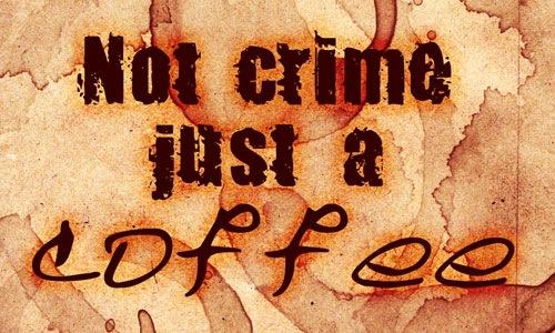 Кисти пятен от кофе