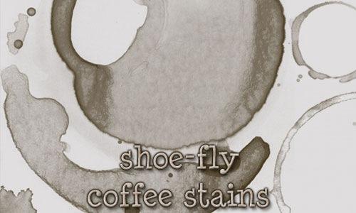 Набор кистей пятен от кофе