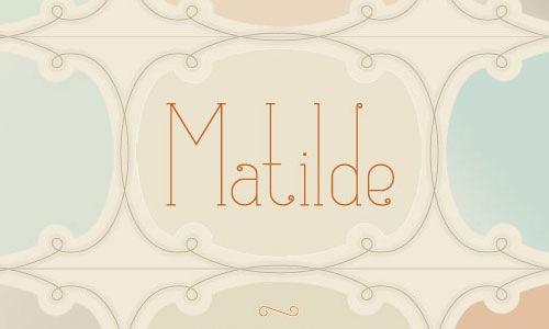 Шрифт Matilde