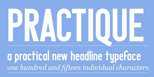 Шрифт под названием Practique