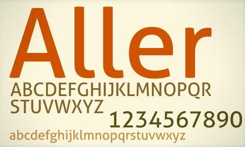 Шрифт Aller Standard