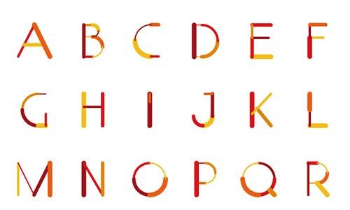 Яркий шрифт Color-Lines