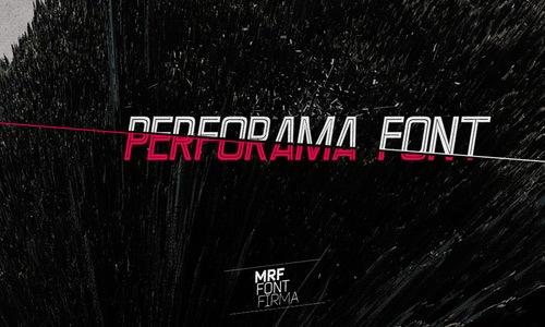 Шрифт Perforama