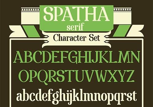 Красивый шрифт Spatha serif