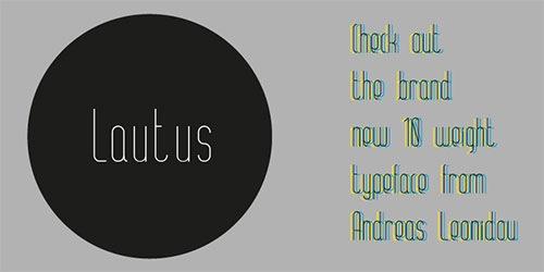 Тонкий шрифт ALT Lautus Thin