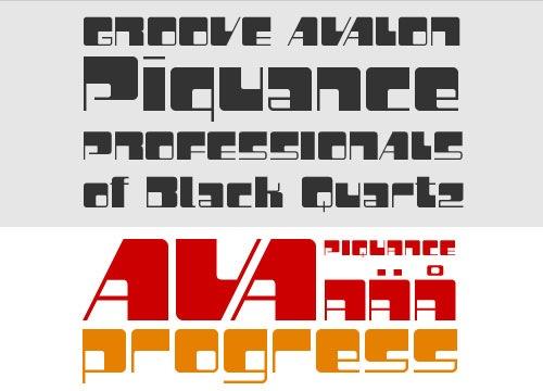 Стильный креативный шрифт Piquance