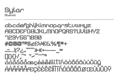 Электронный шрифт Sylar