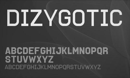 Ровный шрифт Dizygotic