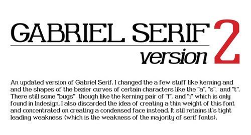 Округлый печатный шрифт Gabriel Serif V.2