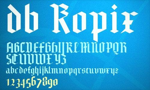 Шрифт db Kopix