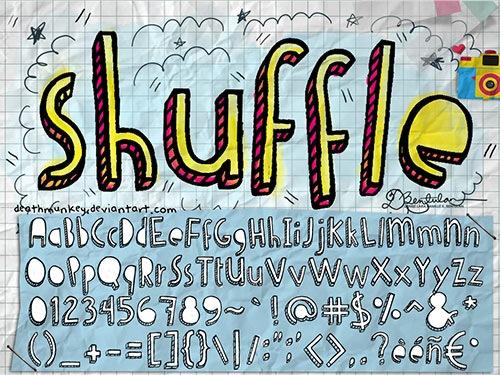 Дудл шрифт Denne Shuffle