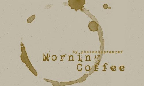 Утренний кофе –Кисти для Фотошопа