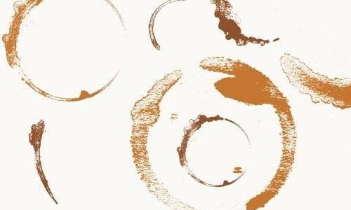 Кисти кофейных пятен для Фотошопа CS2