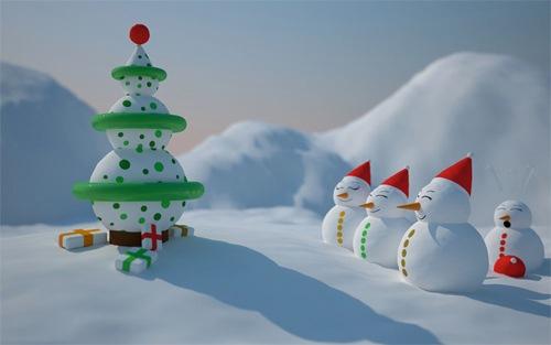 Рождественские снеговики