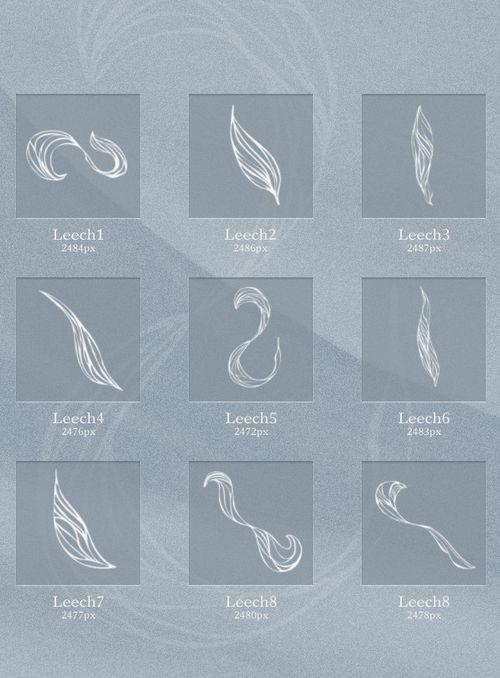 Набор кистей абстрактной формы