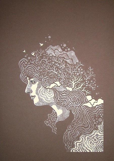 Девушка-природы