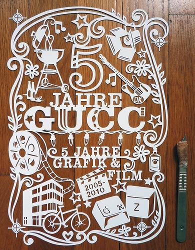 Пейпер арт типографика