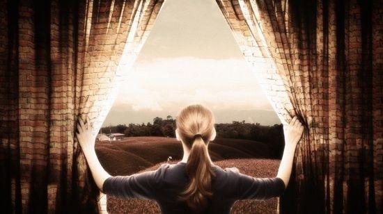 Создайте шторы из кирпичной стены