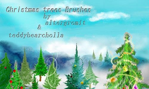 Кисти новогодних елок