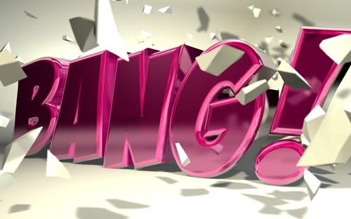 Глянцевая 3D типографика