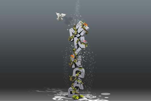 Природная 3D типографика