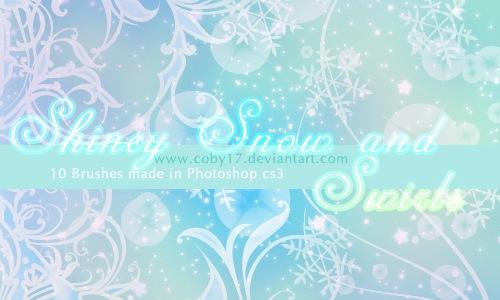 зимние кисти для фотошопа:
