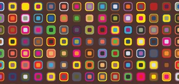 Разноцветные ретро паттерны