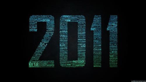 2011 Типографические обои