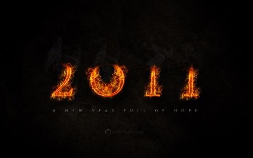 Пылающие обои 2011