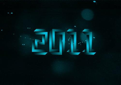3D типографика 2011