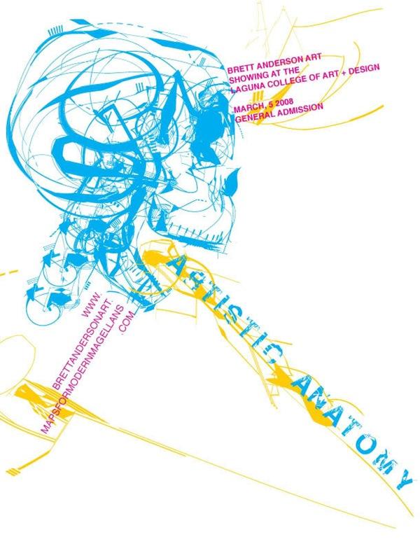 Художественный анатомический постер