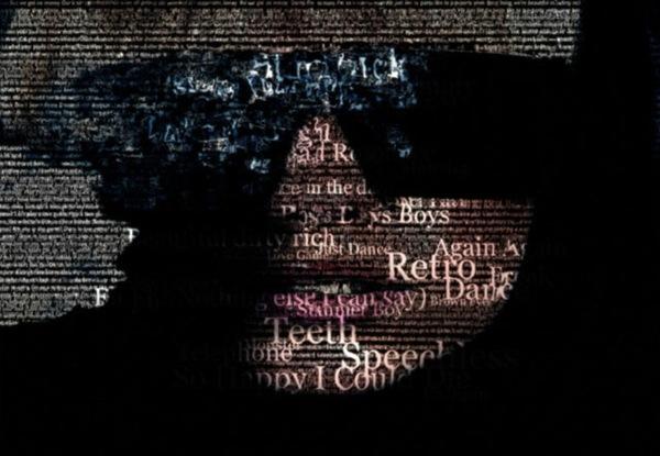 Типографический портрет Леди Гага