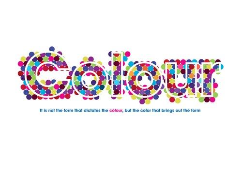 Разноцветный постер