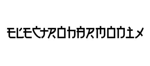 шрифт в виде иероглифов