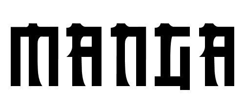 шрифт манга