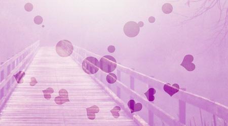 Набор из 5 кистей-сердец