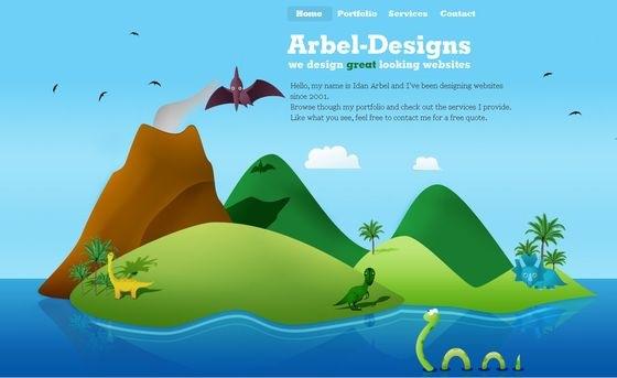 Креативный сайт с детскими иллюстрациями