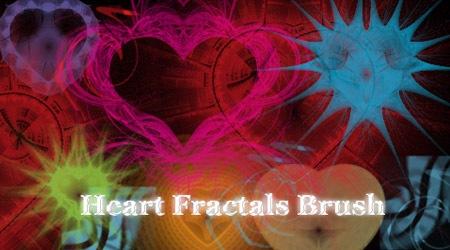 11 фрактальных сердец