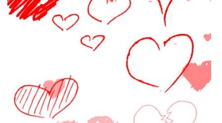 Кисти в форме сердец для Фотошопа