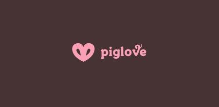 свиной пятачек в виде сердца