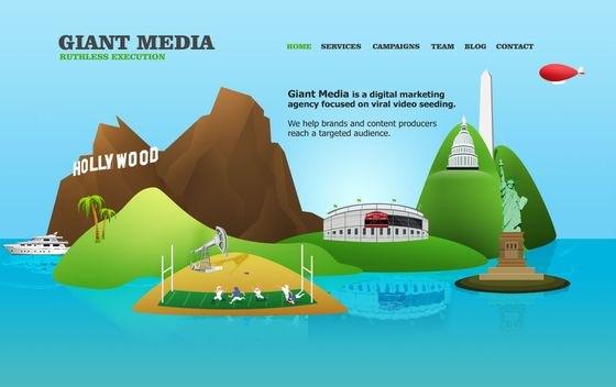Сайт с иллюстрациями