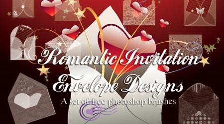 Кисти с конвертами ко дню Св.Валентина