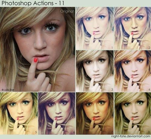 8 экшенов для Фотошопа