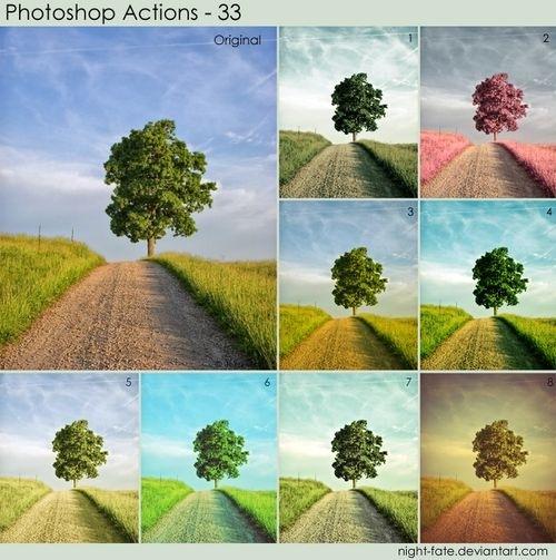 12 экшенов для Фотошопа