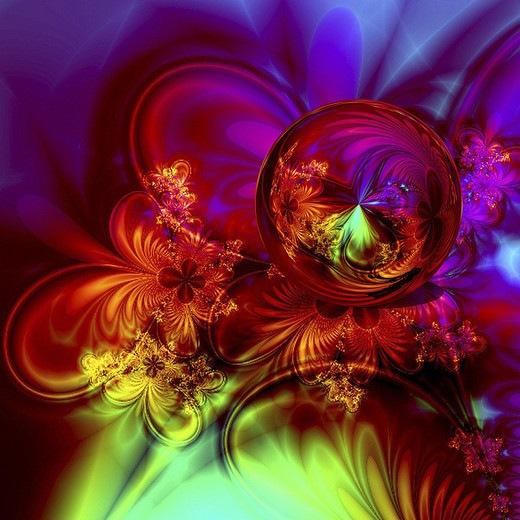 Фантастическая цветочная сфера